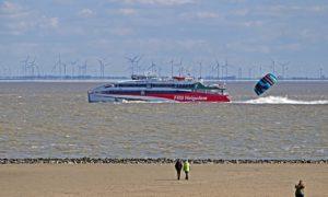 Catamaran Fähre nach Helgoland