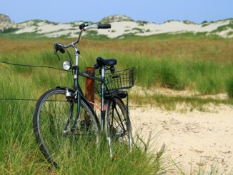 Fahrrad in den Dünen