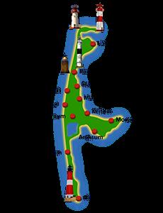 Karte der Insel Sylt