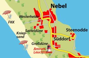 Ortschaften auf Amrum: Nebel