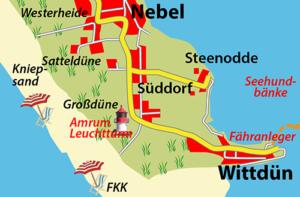Ortschaften auf Amrum: Süddorf