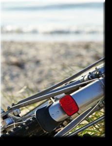 Fahrrad am Strand