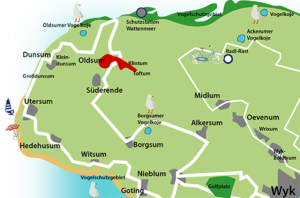 Orte auf Föhr