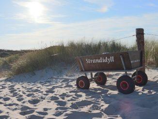 Nordseeinseln Urlaub mit Bollerwagen