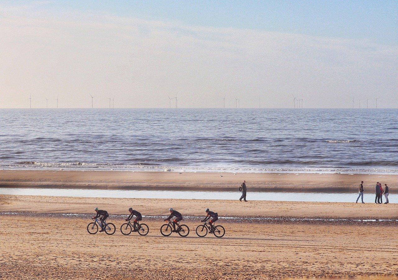 Mountain Bike am Strand